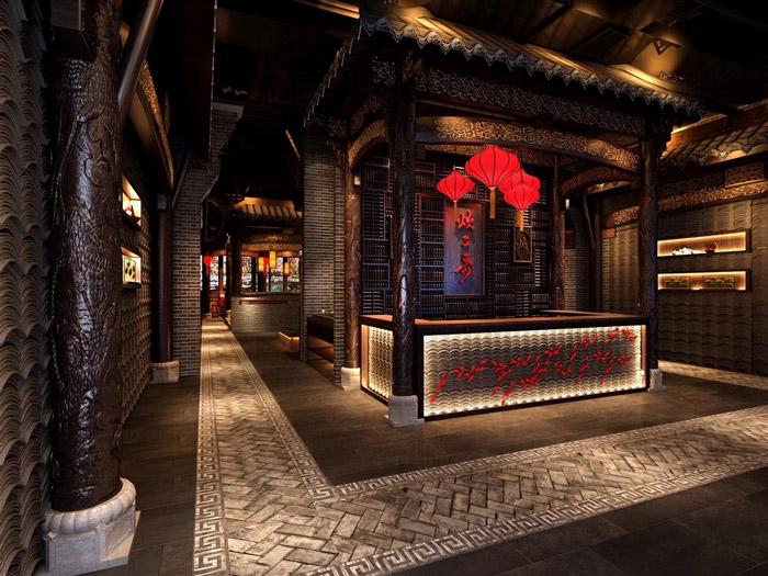 中式火锅店装修